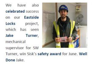 Jake Turner Site Safety Award
